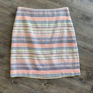 Loft Geometric Print Pastel Skirt